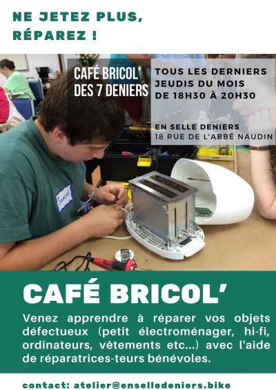 Café Bricol' à l'Atelier En Selle Deniers